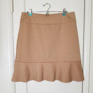 SPIEGEL tan stretch peplum hem skirt new